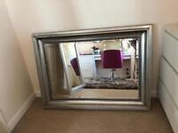 Next Pewter effect beaded mirror