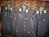 Three German Airforce uniform jackets