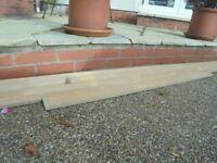 Oak kitchen worktop upstand wall edging strip 3m /1.6m /1.85m /1.3m