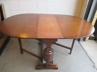 VINTAGE MAHOGANY GATE LEG DINING TABLE WITH BALUSTER LEGS FREE DELIVERY