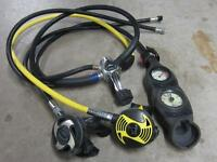 Scuba Diving kit - wet-suit dry-suit BCD regulator and gauges