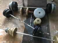 Weight bench with 110 kg weight
