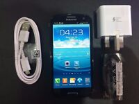 SAMSUNG S3 BLUE / UNLOCKED / 16 GB / VISIT MY SHOP. / NEW COND./ 1 YEAR WARRANTY + RECEIPT