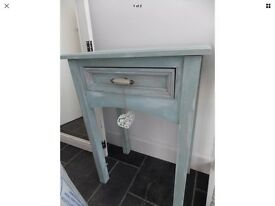 Light blue shabby chic side table