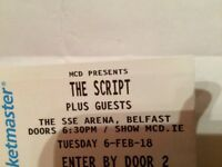 TWO SCRIPT TICKETS STANDING