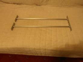 TWO BRAND NEW METAL SQUARE RAILS 57 cms x 1 cms.