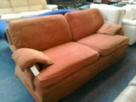 3 seater sofa rust #34198 £99