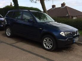 BMW X3 2.5i automatic 2004 plate