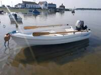 3.6m, 12ft fishing boat/tender 9.9hp outboard