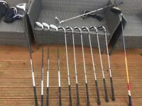 Full set Fazer Blizzard clubs with Taylormade R7 Driver