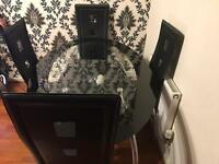 DINING TABLE AND 4 CHAIRS (OFFERS WELCOME)