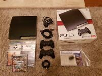 PS3 PLAYSTATION 3 120GB & 2 CONTROLLERS 7 GAMES