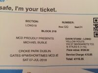 For sale Michael Buble Tickets Dublin