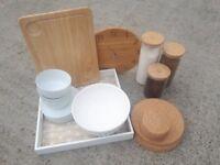 3x Kitchen accessory sets