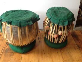 Indian Tabla set: 9 inch Bayan & 5 1/2 inch Dayan Tabla set