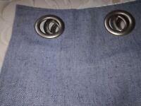 "Dunelm Mill blackout curtains eyelet 44"" width x 54"" drop denim light blue barely used"