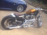 One off Harley bobber