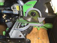 Evolution fury 2 mitre sliding chop saw excellent condition