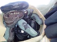 joblot of 100 pairs of safety shoes/boots (£500)