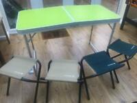 Camping table and chair set
