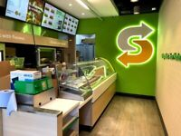 GLASS COOKIE CABIENT USED IN SUBWAY FRANCHISE