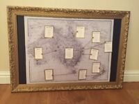 Wedding table plan frame