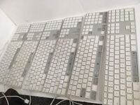 Job lot x 6 apple keyboards wired spares /