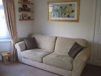 Threepiece suite and 2 armchairs, House of Fraser