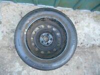 Seat Alhambra 2002 spare wheel & tyre