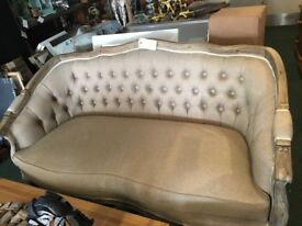 Beautiful bespoke French antique 2 seater sofa