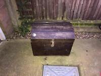 Wooden chest, antique, pirate, treasure, prop
