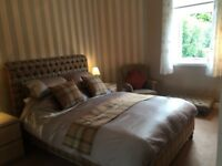 Tweed double bed to include mattress