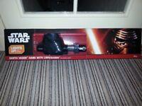 3D Light FX 50030 Star Wars Darth Vader Hand and Light Saber 3D Deco Light, Plastic, Black/Red