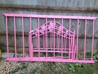 Single Pink metal bed