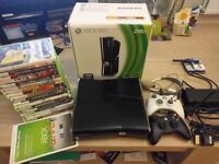 250gb Xbox 360 + additional controller + 18 games