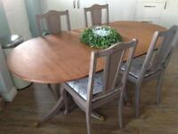 Table and chairs French farmhouse shabby chic