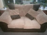 2 seater sofa with 2 matching cushions. Very good condition.