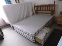 double divan bed base 2 storage drawers. wooden headboard. Free to good home, must be collected .