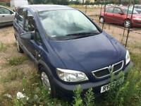 VAUXHALL ZAFIRA 2.0 DIESEL 2004 + SERVICE HISTORY + SPARES AND REPAIRS