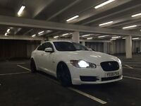 Stunning Jaguar XF Glacier White with XFR looks, 20inch XKR wheels. SAT NAV
