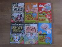 Collection of 6 Horrible Science books