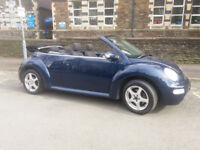 2005(05)VW BEETLE 1.9 TDi CONVERTIBLE MET BLUE,LOW MILES,ELECTRIC ROOF,CLEAN CAR,GREAT VALUE