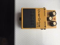 BOSS OD3 Effects Pedal c/w Mains Power Transformer.