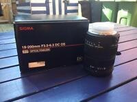 Sigma 18 200mm f3 5 6.3 dc for Nikon DSLR