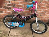 Girls 16 inch monster high bike