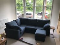 Nearly New Marks and Spencers Corner Sofa and Storage Stool