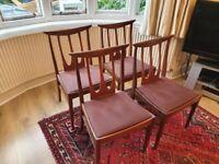 G plan teak 4 brasilia dining chairs