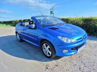 PEUGEOT 206CC CONVERTABLE 1.6 2004 55,000 MILES EXCELLENT C0ND. LEATHER INTERIOR KENWOOD FACE OFF