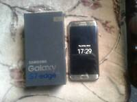 Samsung galaxy s7 edge gold color.like...like new.with box and fast charger