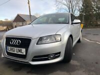 Audi, A3, Sport Hatchback, 2011, Manual, Diesel 2.0 tdi, Tax £30/year, 6 Speed GearBox